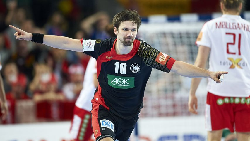 Fabian Wiede bei der Handball-EM in Polen im Januar 2016