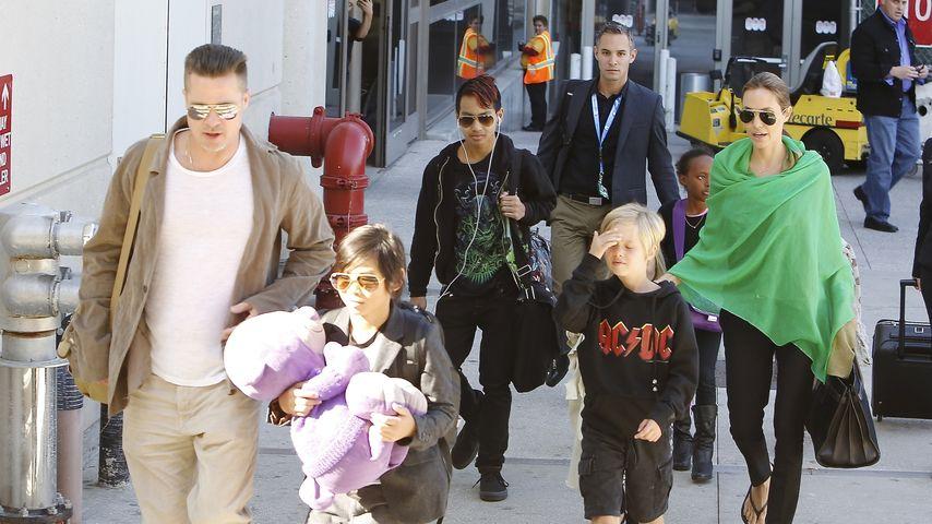 Angelina Jolie, Brad Pitt und Maddox Jolie-Pitt