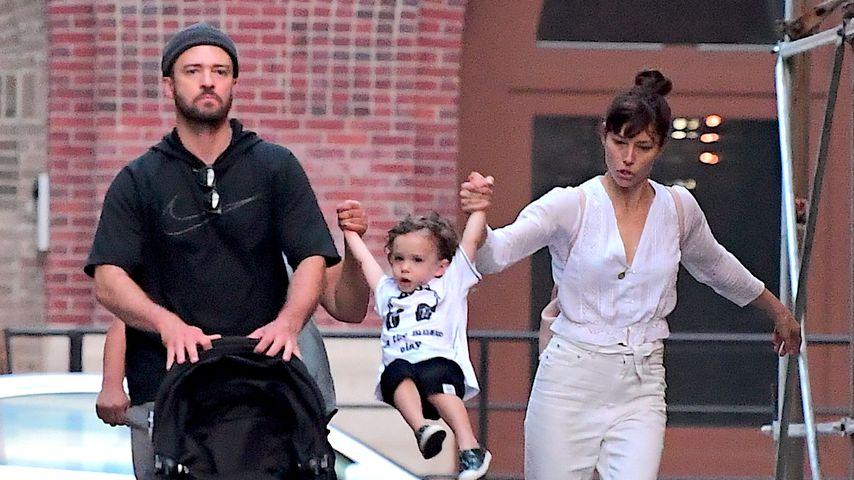 So groß geworden: Silas Timberlake albert mit Mama & Papa