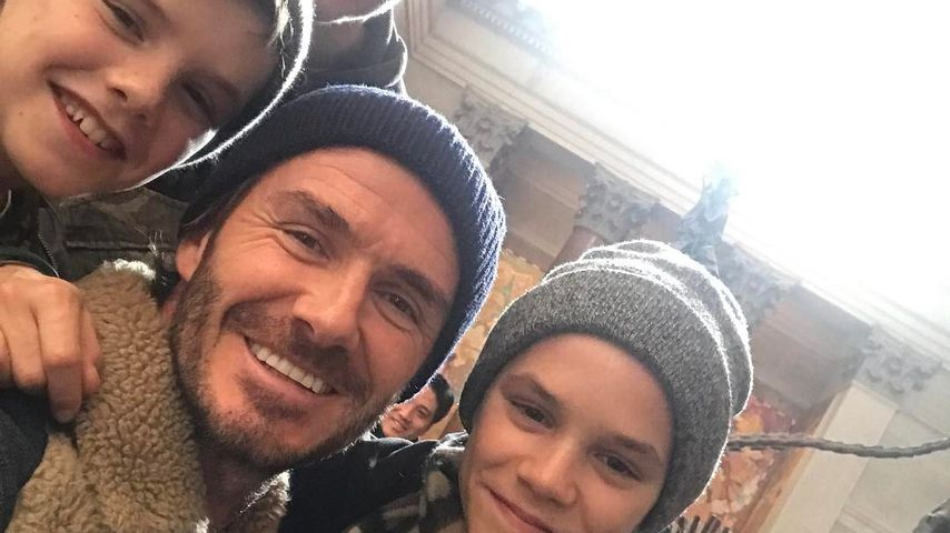 Süßes Beckham-Family-Selfie: Aber wo ist nur Mama Victoria?