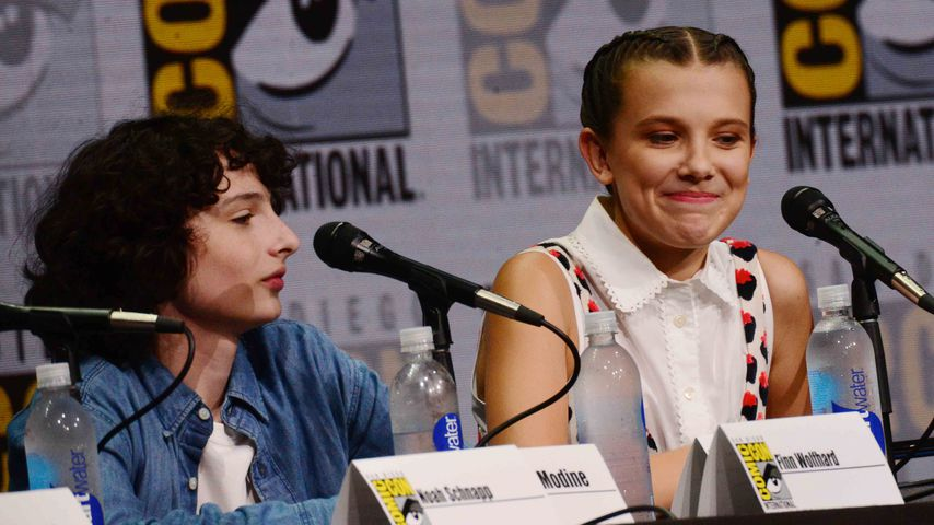 Finn Wolfhard und Millie Bobby Brown bei der San Diego Comic Convention, 2017
