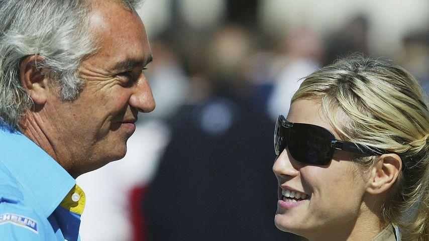 Flavio Briatore und Heidi Klum beim Formel 1 Grand Prix in Indianapolis 2003