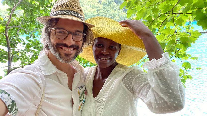 Florent Raimond und seine Freundin Kaone Mabina im August 2020