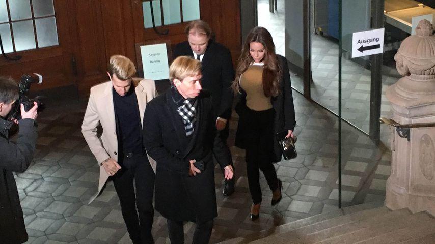 Florian Wess, Helmut Werner, Burkhard Benecken und Gina-Lisa Lohfink im Kammergericht Berlin
