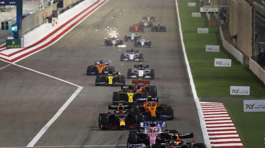 Die Formel-1-Piloten beim Großen Preis von Bahrain im November 2020