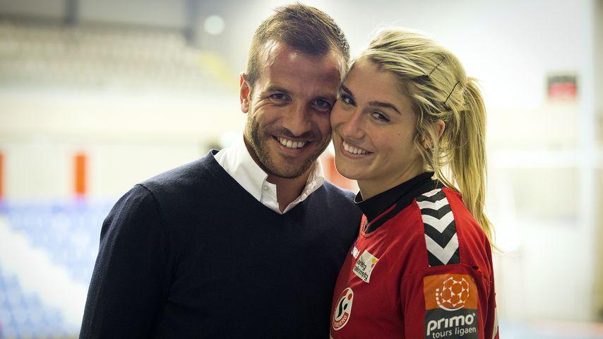 Rafael van der Vaart und Handballerin Estavana Polman