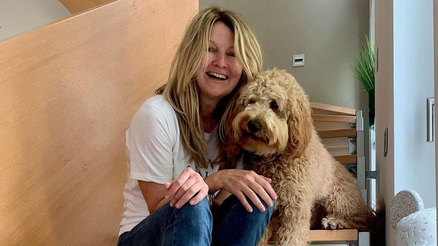 Frauke Ludowig mit ihrem Hund Cooper, Juni 2021