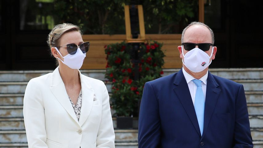 Fürstin Charlène und ihr Gatte Albert, Juni 2020