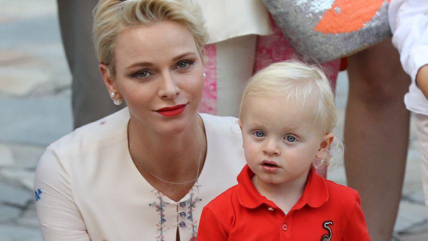 Fürstin Charlène und Prinz Jacques von Monaco