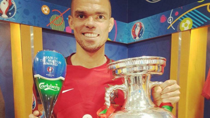 Fußballer Pepe nach dem EM-Final-Sieg 2016