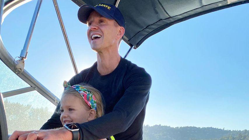 Fußballer Stuart Holden mit seiner Tochter