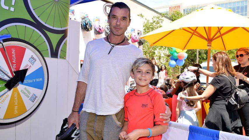 Gavin Rossdale mit seinem Sohn Kingston 2015