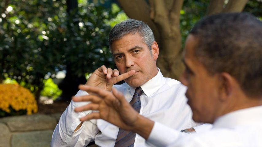 George Clooney und Barack Obama im Oktober 2010