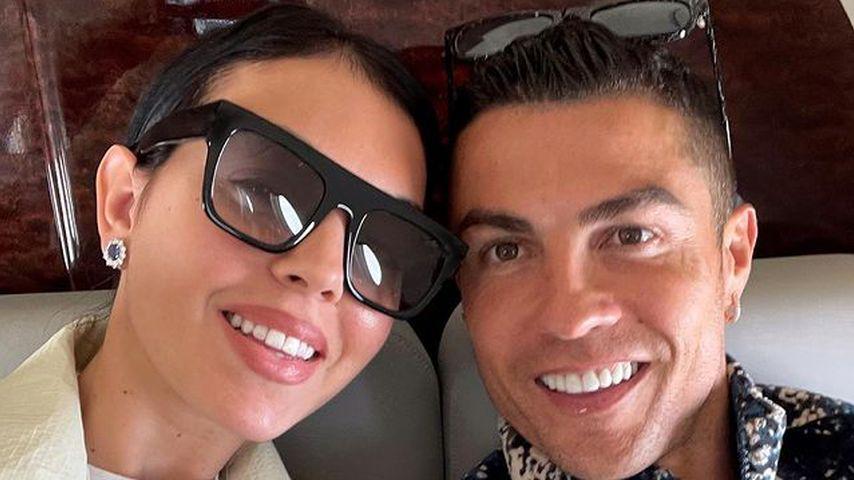 Georgina Rodríguez und Cristiano Ronaldo im Mai 2021