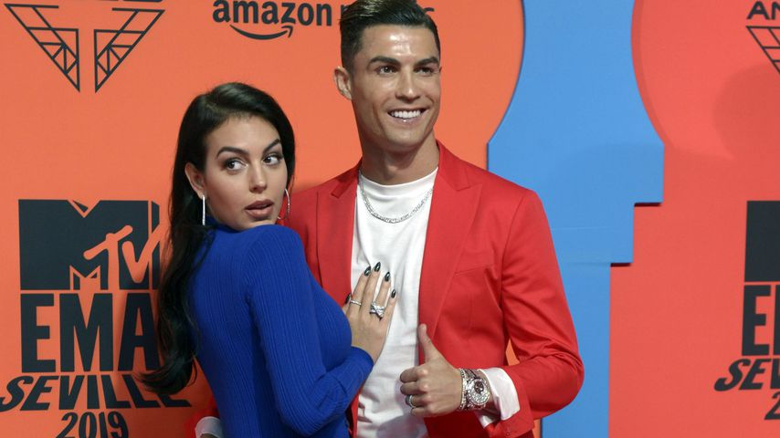 Georgina Rodríguez und Cristiano Ronaldo bei den MTV EMAs in Sevilla im November 2019