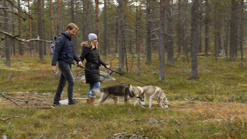 Gerald und Anna Heiser während ihrer Flitterwochen in Lappland 2018