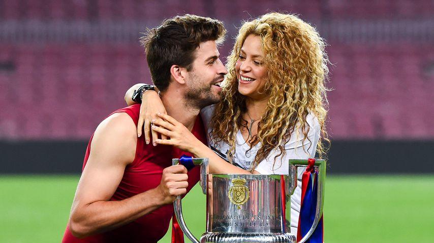Gerard Piqué und Shakira beim Copa del Rey Finale 2015