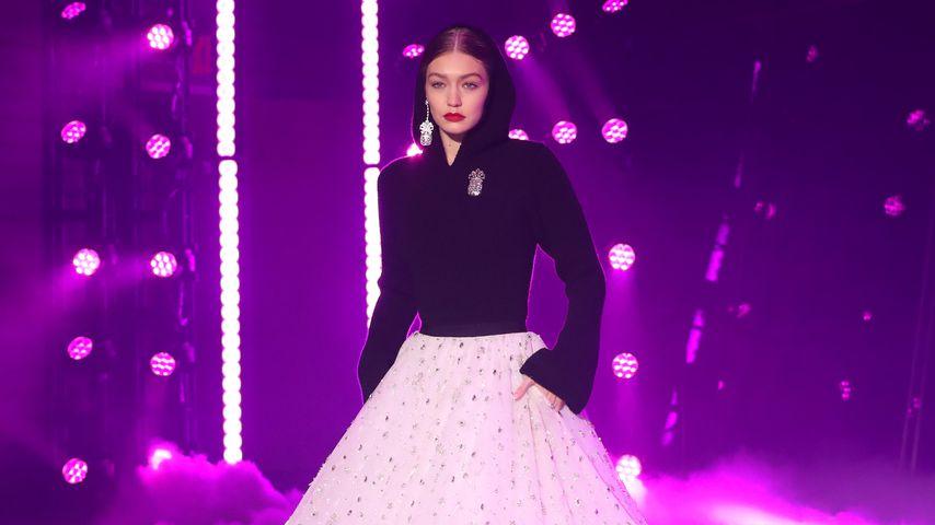 Gigi Hadid bei der Brandon Maxwell-Show auf der NY Fashion Week 2018