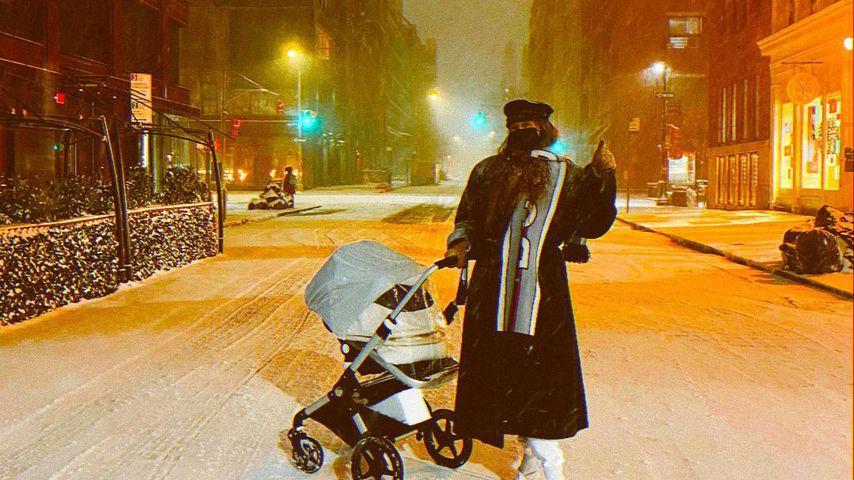 Gigi Hadid mit ihrer Tochter, Dezember 2020