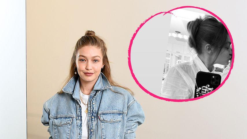 Neuer Schnappschuss: Gigi Hadid küsst ihre kleine Tochter
