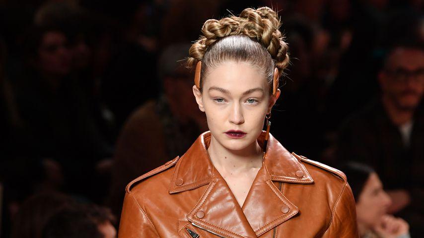Gigi Hadid auf der Fashion Week in Mailand, 2020