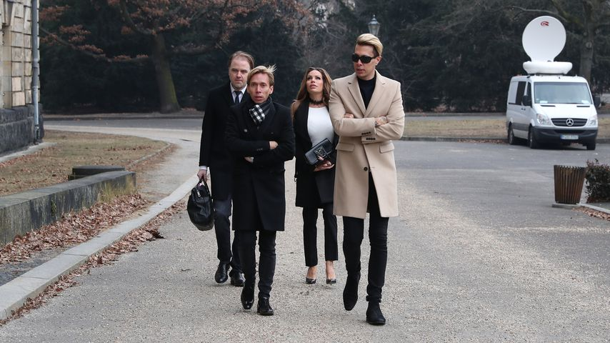 Gina-Lisa Lohfink, Helmut Werner und Florian Wess in Berlin