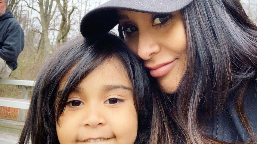 Giovanna LaValle und ihre Mama Snooki im April 2019 beim Baseball-Training