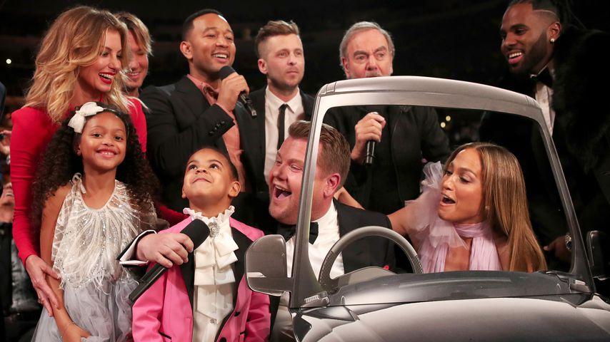 Grammy-Gäste bei einer Carpool-Karaoke-Session