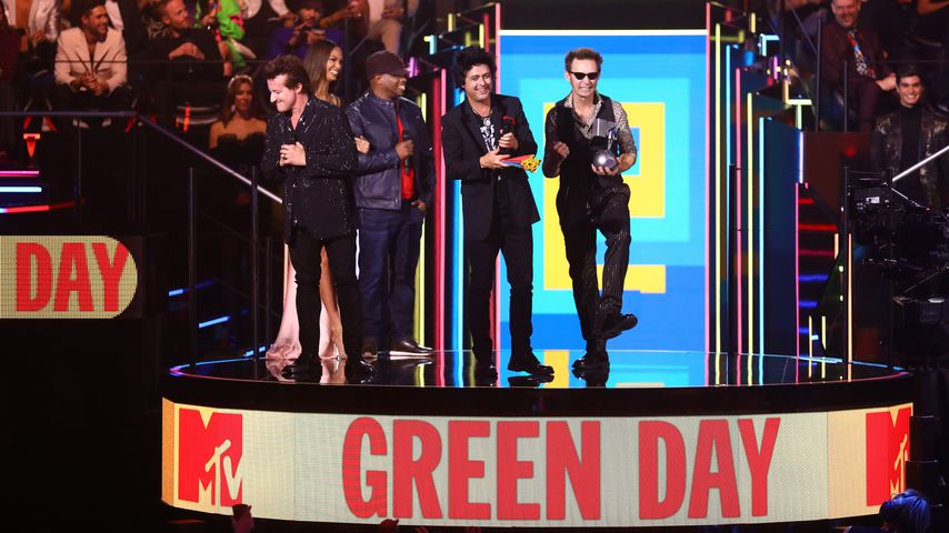 Green Day gewinnen in der Kategorie Bester Rock Act bei den MTV EMAs 2019
