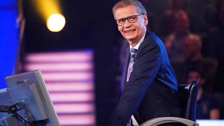 """Günther Jauch bei """"Wer wird Millionär?"""" im April 2020"""