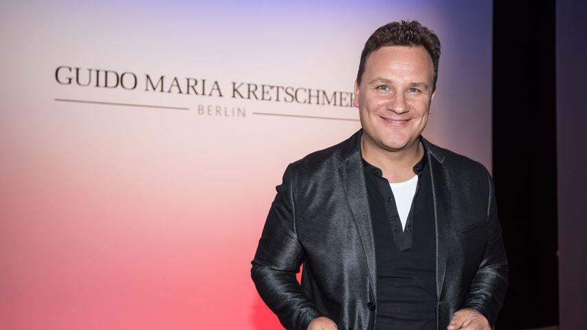 Guido Maria Kretschmer bei der Fashionshow seines Modelabels in Berlin
