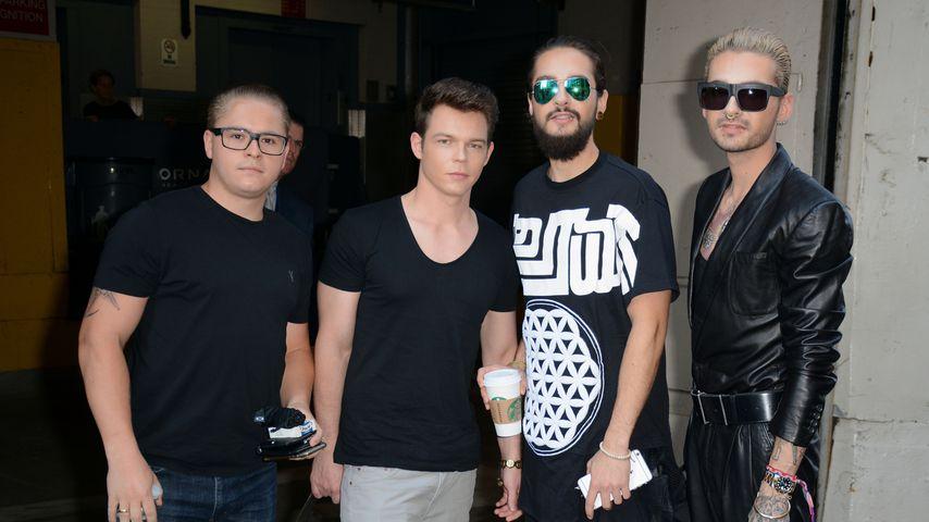 Gustav Schäfer, Georg Listing, Tom Kaulitz, Bill Kaulitz 2015 in New York