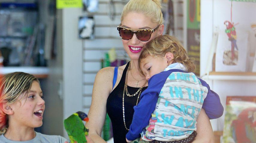 Gwen Stefani mit ihren Kids