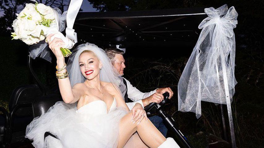 Gwen Stefani und Blake Shelton an ihrem Hochzeitstag