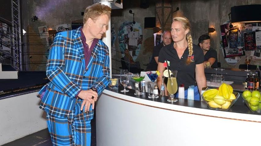 GZSZ-Szenenbild mit Conan O'Brien und Eva Mona Rodekirchen
