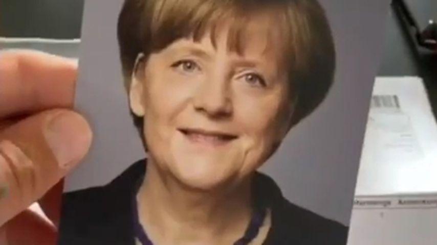 Gzuz' Autogramm von Angela Merkel