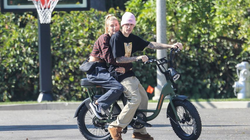 Hailey und Justin Bieber in Beverly Hills