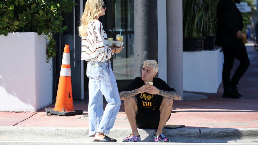 Hailey und Justin Bieber in Miami Beach