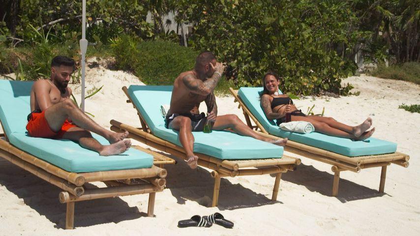 """Halil, Diogo und Celina in Folge sieben von """"Ex on the Beach"""""""
