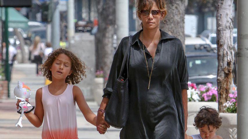 Halle Berry mit ihren Kindern, 2015