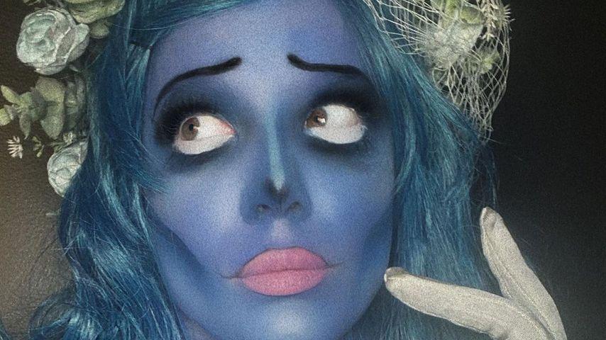 Halsey als Corpse Bride an Halloween 2020