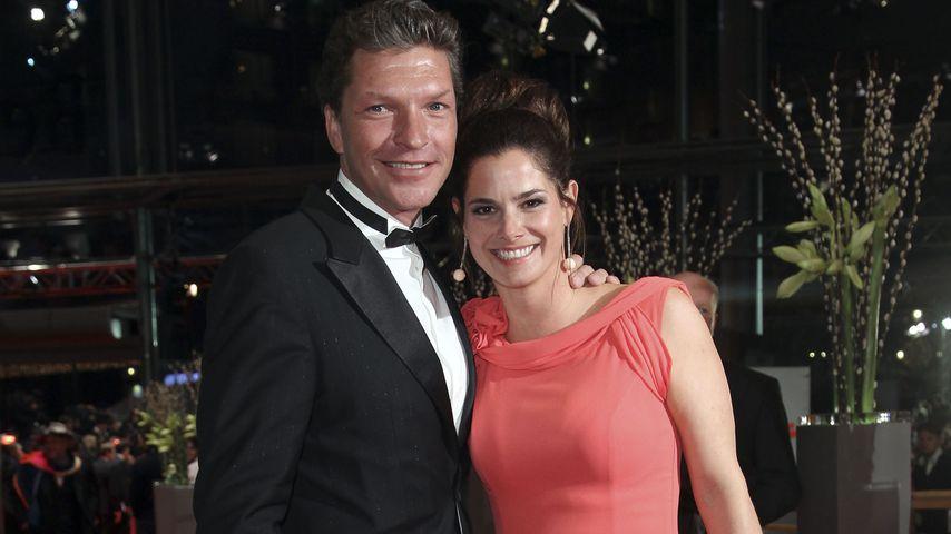 """Hardy Krüger jr. mit seiner damaligen Frau Katrin bei der """"True Grit""""-Premiere 2011"""