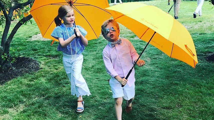 Harper Grace und Gideon Scott Burtka-Harris beim Polo-Event von Veuve Clicquot