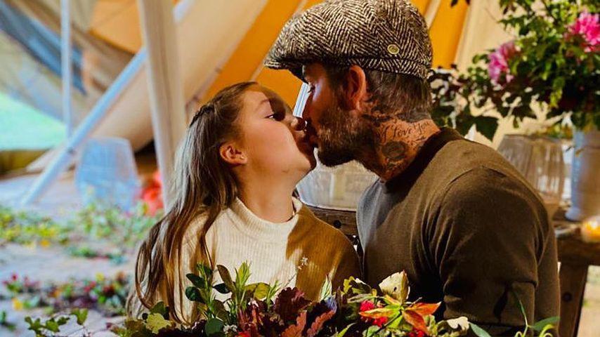 Nach Kuss-Kritik: David Beckham küsst Harper auf den Mund