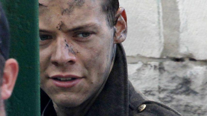 """Harry Styles bei Dreharbeiten zum Film """"Dunkirk"""" in Swanage"""
