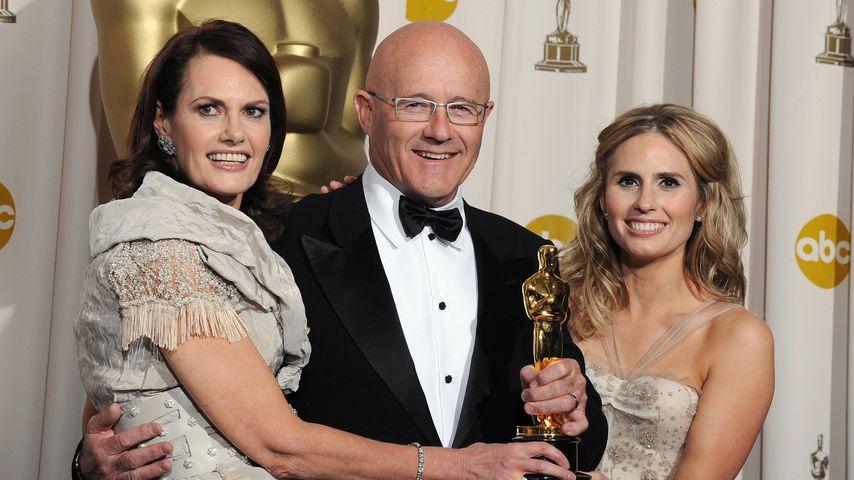 Heath Ledgers Eltern Sally und Kim und seine Schwester Kate bei der Oscar-Verleihung 2009