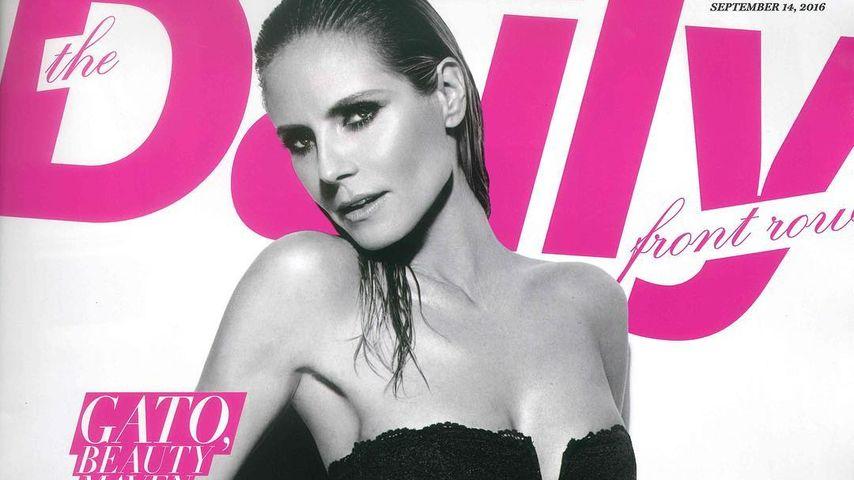 Heidi Klum auf dem Cover der Daily Front Row
