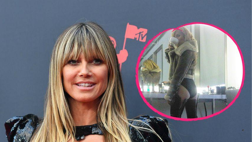 In Mega-Overknees und Body: Heidi Klum zeigt ihren Knackpo!