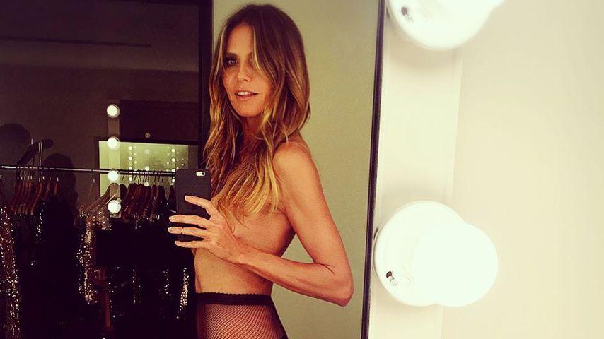Fans in Sorge wegen Halbnackt-Pic: Ist Heidi Klum zu dünn?