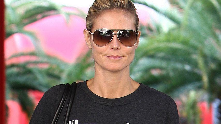 Klare Ansage! Heidi Klum im Statement-Pullover